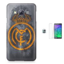 Kit Capa Case TPU Galaxy A3 (A300) Real Madrid Futebol + Pel Vidro (BD01) - Bd cases
