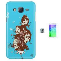 Kit Capa Case TPU Galaxy Gran Prime G530/G531 Beatles + Pel Vidro (BD01) - Bd cases