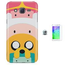 Kit Capa Case TPU Galaxy Gran Prime G530/G531 Hora da aventura Adventure Time + Pel Vidro (BD01) - Bd cases