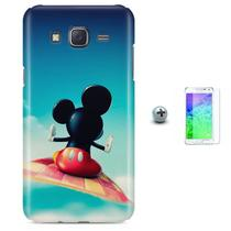 Kit Capa Case TPU Galaxy Gran Prime G530/G531 Mickey + Pel Vidro (BD02) - Bd cases