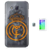 Kit Capa Case TPU Galaxy Gran Prime G530/G531 Real Madrid Futebol + Pel Vidro (BD01) - Bd cases