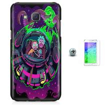 Kit Capa Case TPU Galaxy Gran Prime G530/G531 Rick And Morty + Pel Vidro (BD01) - Skin t18
