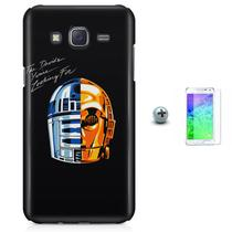Kit Capa Case TPU Galaxy Gran Prime G530/G531 Star Wars Daft Punk + Pel Vidro (BD01) - Bd cases