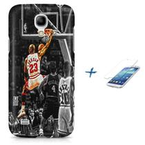 Kit Capa Case TPU Galaxy S4 Mini Michael Jordan 23 Basquete + Pel Vidro (BD01) - Bd cases