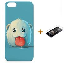 Kit Capa Case TPU iPhone 5/5S Poro League of Legends + Pel Vidro (BD01) - Bd cases