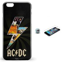 Kit Capa Case TPU iPhone 6 6S Plus AC DC acdc + Pel Vidro (BD01) e94a9f2255959