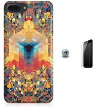 Kit Capa Case TPU iPhone 7 Plus - Arte Geométrica + Pel Vidro (BD50) - Bd cases