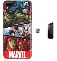 Kit Capa Case TPU iPhone 7 Plus - Avengers Vingadores + Pel Vidro (BD30) - Bd cases