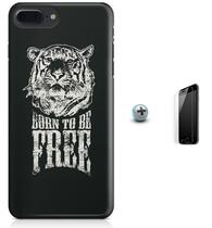Kit Capa Case TPU iPhone 7 Plus - Born to be Free + Pel Vidro (BD50) - Bd cases