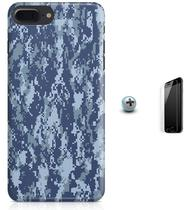 Kit Capa Case TPU iPhone 7 Plus - Camuflagem Digital + Pel Vidro (BD51) - Bd cases