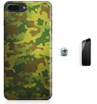 Kit Capa Case TPU iPhone 7 Plus - Camuflagem + Pel Vidro (BD52) - Bd cases