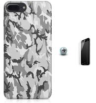Kit Capa Case TPU iPhone 7 Plus - Camuflagem + Pel Vidro (BD55) - Bd cases