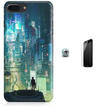 Kit Capa Case TPU iPhone 7 Plus - Cyberpunk + Pel Vidro (BD50) - Bd cases