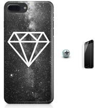 Kit Capa Case TPU iPhone 7 Plus - Diamante + Pel Vidro (BD50) - Bd cases