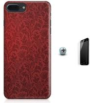 Kit Capa Case TPU iPhone 7 Plus - Flores Arte + Pel Vidro (BD56) - Bd cases
