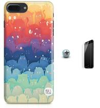 Kit Capa Case TPU iPhone 7 Plus - Gatos Cats + Pel Vidro (BD50) - Bd cases