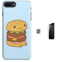 Kit Capa Case TPU iPhone 7 Plus - Hamburger Minimalista + Pel Vidro (BD50) - Bd cases