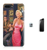 Kit Capa Case TPU iPhone 7 Plus - Hollywood Marilyn Monroe James Dean Elvis Presley + Pel Vidro (BD01) - Bd cases