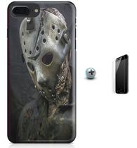 Kit Capa Case TPU iPhone 7 Plus - Jason Voorhees + Pel Vidro (BD30) - Bd cases