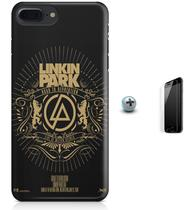Kit Capa Case TPU iPhone 7 Plus - Linkin Park + Pel Vidro (BD30) - Bd cases