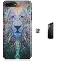 Kit Capa Case TPU iPhone 7 Plus - Lion Leão + Pel Vidro (BD30) - Bd cases