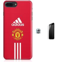 Kit Capa Case TPU iPhone 7 Plus - Manchester United + Pel Vidro (BD30) - Bd cases