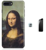Kit Capa Case TPU iPhone 7 Plus - Monalisa + Pel Vidro (BD50) - Bd cases