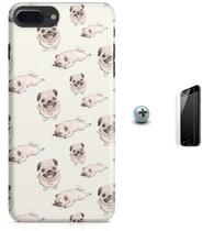 Kit Capa Case TPU iPhone 7 Plus - Pug Cachorro + Pel Vidro (BD50) - Bd cases