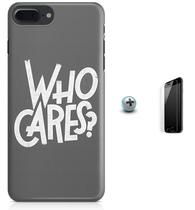 Kit Capa Case TPU iPhone 7 Plus - Quem se importa + Pel Vidro (BD50) - Bd cases