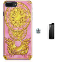 Kit Capa Case TPU iPhone 7 Plus - Sakura Card Captors + Pel Vidro (BD30) - Bd cases