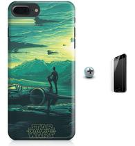 Kit Capa Case TPU iPhone 7 Plus - Star Wars O Despertar da Força + Pel Vidro (BD30) - Bd cases