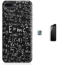 Kit Capa Case TPU iPhone 7 Plus - Teoria da Relatividade Einstein + Pel Vidro (BD50) - Bd cases