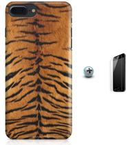 Kit Capa Case TPU iPhone 7 Plus - Textura Tigre + Pel Vidro (BD50) - Bd cases