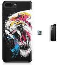 Kit Capa Case TPU iPhone 7 Plus - Tigre + Pel Vidro (BD50) - Bd cases