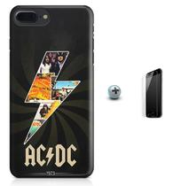 Kit Capa Case TPU iPhone 8 Plus - AC/DC acdc + Pel Vidro (BD01) - Bd cases