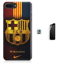 Kit Capa Case TPU iPhone 8 Plus - Barcelona + Pel Vidro (BD01) - Bd cases