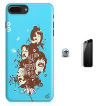 Kit Capa Case TPU iPhone 8 Plus - Beatles + Pel Vidro (BD01) - Bd cases