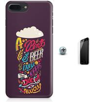 Kit Capa Case TPU iPhone 8 Plus - Beer Cerveja + Pel Vidro (BD30) - Bd cases