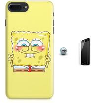 Kit Capa Case TPU iPhone 8 Plus - Bob Esponja + Pel Vidro (BD30) - Bd cases