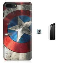 Kit Capa Case TPU iPhone 8 Plus - Capitão América Avengers Vingadores + Pel Vidro (BD01) - Bd cases