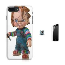 Kit Capa Case TPU iPhone 8 Plus - Chucky O Boneco Assassino + Pel Vidro (BD01) - Bd cases