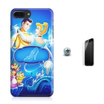 Kit Capa Case TPU iPhone 8 Plus - Cinderella + Pel Vidro (BD01) - Bd cases
