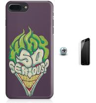 Kit Capa Case TPU iPhone 8 Plus - Coringa Joker Why so Serious + Pel Vidro (BD30) - Bd cases