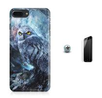 Kit Capa Case TPU iPhone 8 Plus - Coruja + Pel Vidro (BD01) - Bd cases