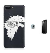 Kit Capa Case TPU iPhone 8 Plus - Game of Thrones GOT + Pel Vidro (BD01) - Bd cases