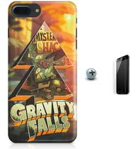 Kit Capa Case TPU iPhone 8 Plus - Gravity Falls + Pel Vidro (BD30) - Bd cases
