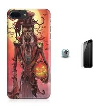 Kit Capa Case TPU iPhone 8 Plus - Halloween + Pel Vidro (BD01) - Bd cases