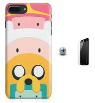 Kit Capa Case TPU iPhone 8 Plus - Hora da aventura Adventure Time + Pel Vidro (BD01) - Bd cases