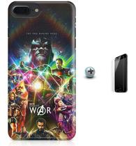 Kit Capa Case TPU iPhone 8 Plus - Infity War Vingadores + Pel Vidro (BD30) - Bd cases