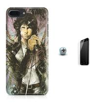 Kit Capa Case TPU iPhone 8 Plus - Jim Morrison The Doors + Pel Vidro (BD01) - Bd cases